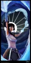 Korra - Water Bending by CatCouch