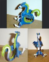 Neonr0se sculpture commission by felineflames