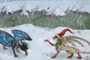 Contest Entry - Snowball Fight! by Sunbeargirl