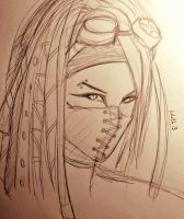 Concept Doodle - CyberGoth by LilithGiroyami