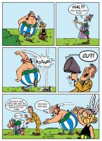 Asterix Comic Page by kh27s