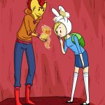 Animated Flame Prince and Fionna by gwingangel