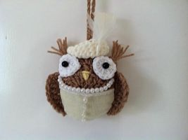 Downton Abbey inspired owl - Lady Mary Crawley owl by Knit-A-Dee-Doo-Dah