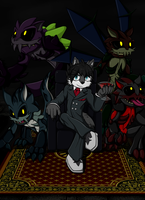 The master and his monsters by OrionTHedgehog