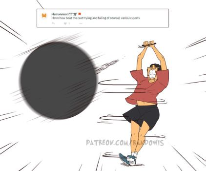 Weekly Doodles - SPORTS! (Mike) by RandoWis