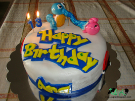 Pokemon Birthday Cake by SugiAi