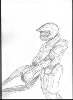 Red vs Blue: Tucker Sketch by ThatChickWithDaPony