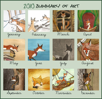 2010 summary of art by FoxInShadow