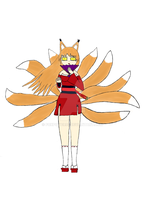 Fox maiden colored by foxpower93
