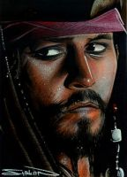 Jack Sparrow Sketch Card by RandySiplon