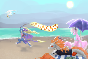 Beach Picnic by drawitout