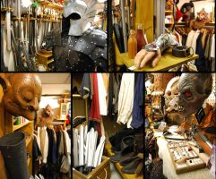 Our jumble store in winter by ArtisansdAzure