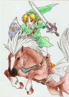 Link and Epona by Ouma-Laura