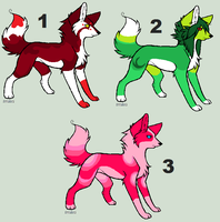 Highlight Wolf Adoptables (3) CLOSED by blackyball22