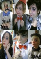 My SuperWhoLock Cosplay Before and After by Artieukchan
