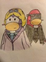 Club Penguin - Dot x Jetpackguy by JodieJuo