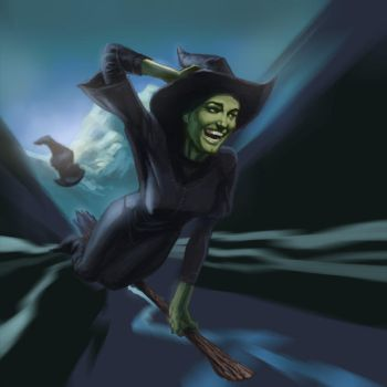 Elphaba Defying Gravity by artzilla