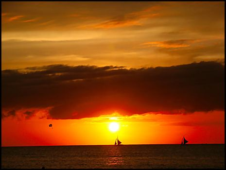 Boracay sunset 3 by SOLshie