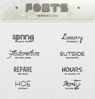 New Fonts [ #4 PACK ] by tropicsong