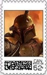 Boba Fett Postage Stamp by WOLFBLADE111