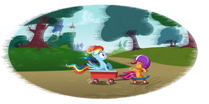 a tour in Ponyville by selinmarsou