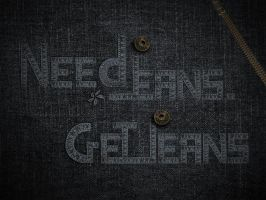 "Typo ""Need Jeans. Get Jeans"" by jiuce"