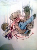 Free Fall Bear Fight by RileyRiot
