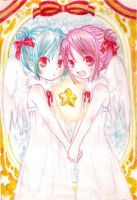twin angels by Fallheart