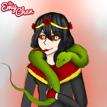 3 Word Oc Challenge (Snake, Paranormal, Rose) by TheEmyChan