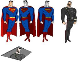 Superman and 2 Villains by dragonmanor