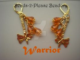 Warrior Guild Wars 2 Inspired Earrings by beadclass