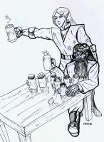 Lord of the Rings Drinking by MilkManX