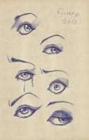 Eyes- by ArtByFlimp