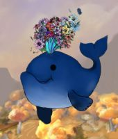whale of eternal blossom by lilcoocumba