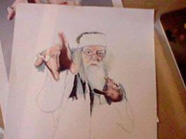 Dumbledor wants you, acrylic by InValhallaWeEnd