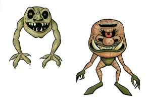 Monster Sketches by GwenStacy