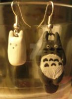 Totoro Earrings by MishYooona