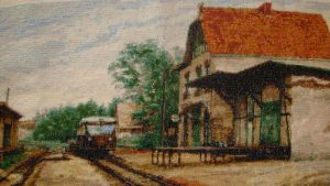 Train Station Goyatz cross stitch by Anim-Soul
