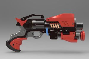 Hand gun made from a concept testing in Keyshot! by Car1bou