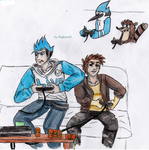 Mordecai and Rigby aaand video games! by ShadowofJ