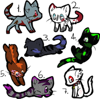 Cheap Cat Adoptables (CLOSED) by BeaversAteMyGrandma