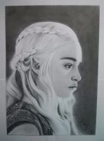 Daenerys Targaryen | Pencil Drawing by Tino-artS