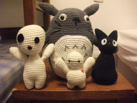 Totoro and his friends ! by Mister--P