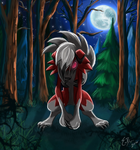 Lycanroc (Moon) by Em-Breon
