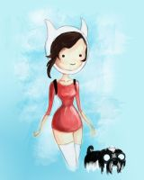 Tashi the Dog and Lucy the Human by Lluceth