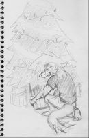 Placing Gifts -sketch by ZeroDragon