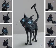 Coraline: Cat Outline by Graystripe64
