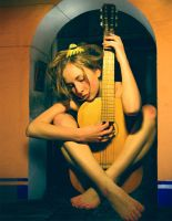 Still her guitar gently  weeps by zombieater