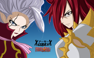 mirajane and erza by GoLD-MK