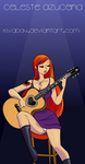 Celeste Playing Guitar by kivabay